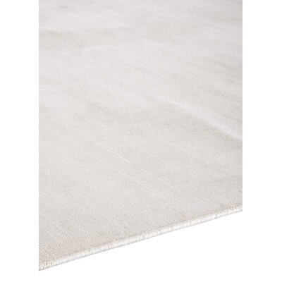 Sara Hand-Woven Bright White Area Rug Rug Size: 9 x 12