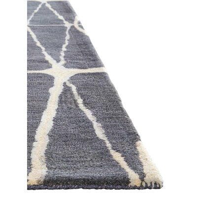 Heiss Hand-Tufted Gray/Cream Area Rug Rug Size: Rectangle 8 x 11