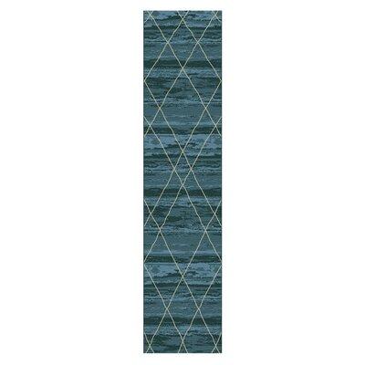 Janise Blue Area Rug Rug Size: Runner 27 x 8