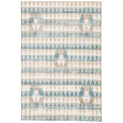 Langridge Whisper White/Oxford Tan Area Rug Rug Size: Rectangle 2 x 3