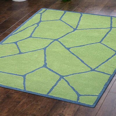 Arius Hand-Tufted Wool Green Area Rug Rug Size: Rectangle 5 x 8