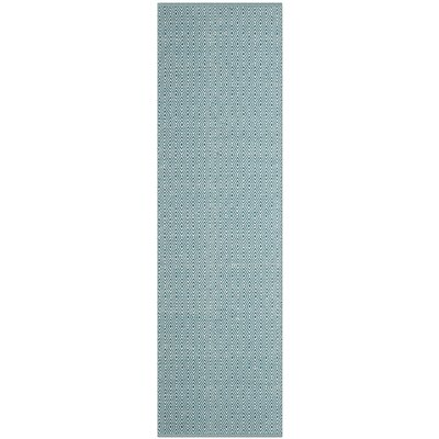 Shevchenko Place Hand-Woven Ivory/Turquoise Area Rug Rug Size: Rectangle 26 x 4