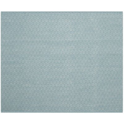 Shevchenko Place Hand-Woven Ivory/Turquoise Area Rug Rug Size: Square 6