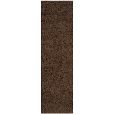 Holliday Solid Brown Area Rug Rug Size: Runner 23 x 8