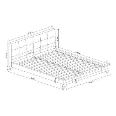 Athanas Blind Tufted Upholstered Platform Bed Size: Full