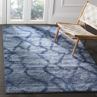 Tenth Avenue Blue Area Rug Rug Size: 5 x 8