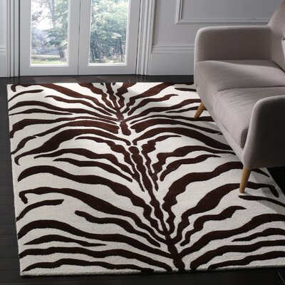 Martins Ivory/Brown Area Rug Rug Size: 5 x 8