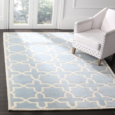 Wilkin Blue & Ivory Area Rug Rug Size: 5 x 8