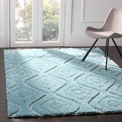Helms Blue Area Rug Rug Size: 4 x 6