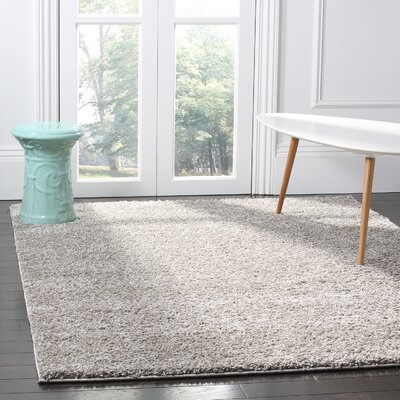 Helsel Gray Area Rug Rug Size: Rectangle 4 x 6