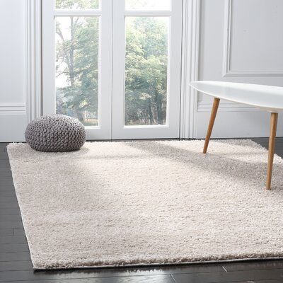 Helsel Light Gray Area Rug Rug Size: Rectangle 4 x 6