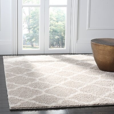 Helsel Light Gray Area Rug Rug Size: Rectangle 8 x 10