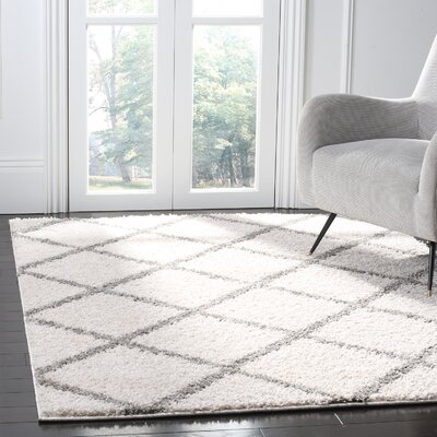 Helsel Ivory Area Rug Rug Size: Rectangle 8 x 10