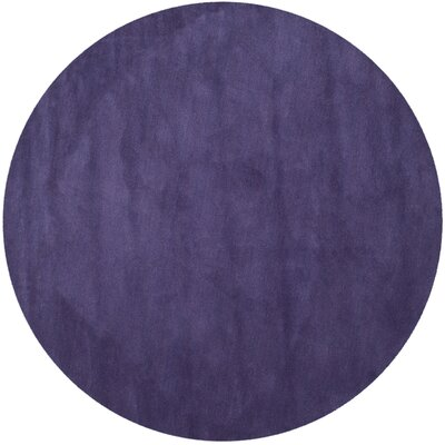 Bargo Purple Area Rug Rug Size: Round 6