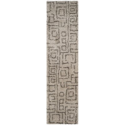Holliday Taupe/Gray Area Rug Rug Size: Runner 23 x 11