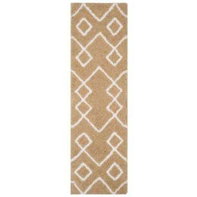 Shead Hand-Tufted Beige/Ivory Area Rug Rug Size: Runner 23 x 8