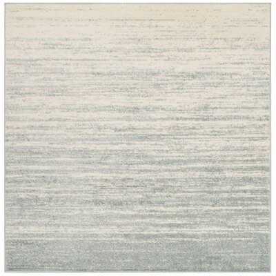 Schacher Slate/Cream Area Rug Rug Size: Square 6