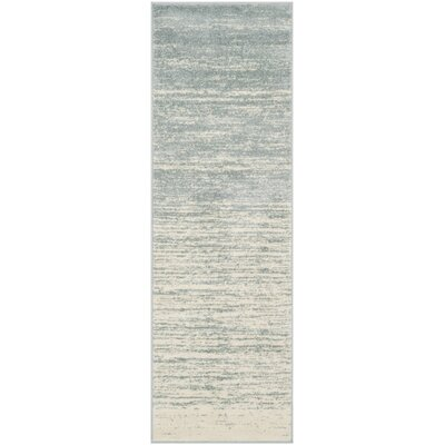 Schacher Slate/Cream Area Rug Rug Size: Runner 26 x 8
