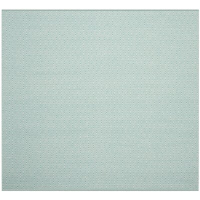 Sessums Hand-Woven Ivory/Aqua Area Rug Rug Size: Square 6