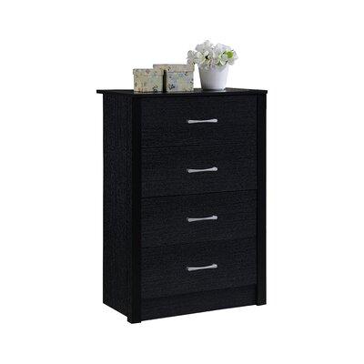 Herrera 4 Standard chest Color: Black