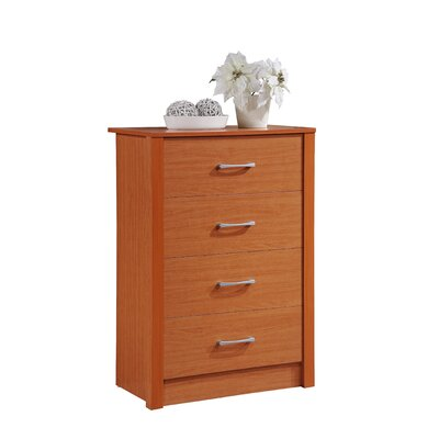 Herrera 4 Standard chest Color: Cherry