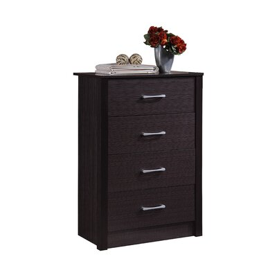 Herrera 4 Standard chest Color: Chocolate