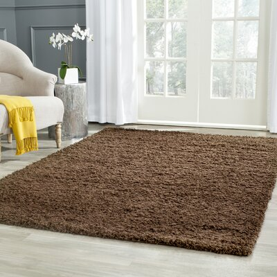 Starr Hill Solid Brown Area Rug Rug Size: Rectangle 8 x 10