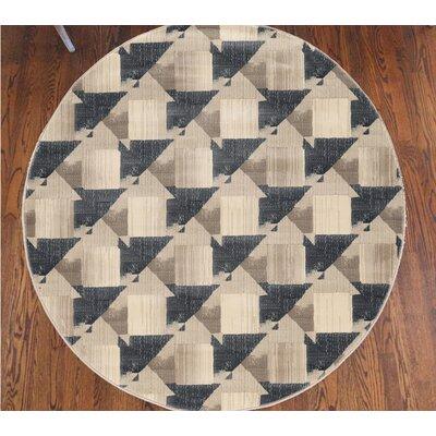 Chapa Gray Area Rug Rug Size: Round 53