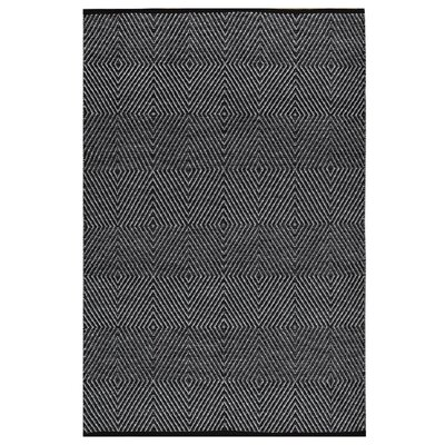 Criswell Hand-Woven Cotton Black/White Area Rug Rug Size: Rectangle 6 x 9