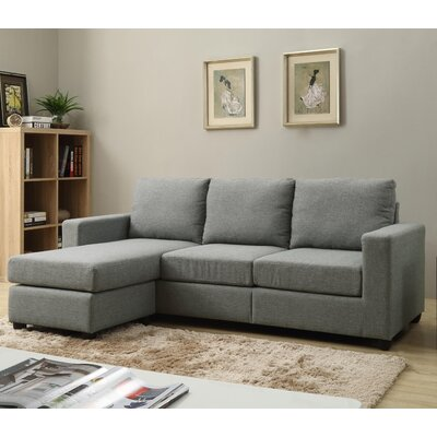 Cleland Heights Sectional Upholstery: Gray