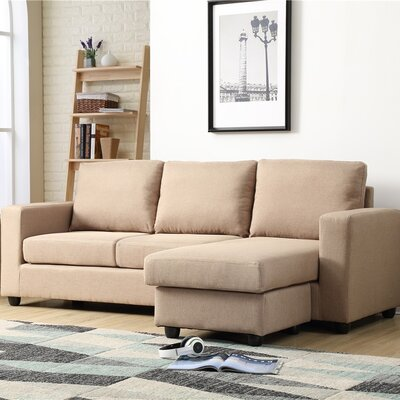 Cleland Heights Reversible Sectional Upholstery: Mocha