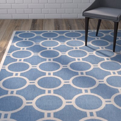 Jefferson Place Blue/Beige Indoor/Outdoor Area Rug Rug Size: Runner 23 x 10