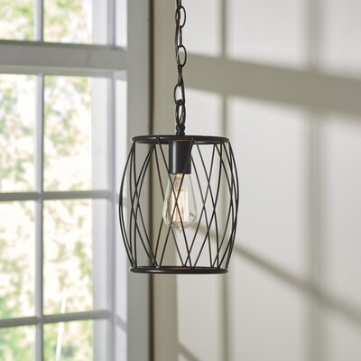 Poynter 1-Light Mini Pendant Finish: Rubbed Oil Bronze