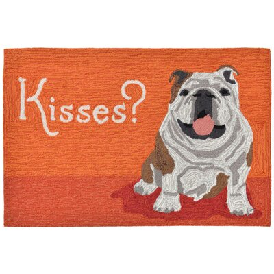 Seavey Hand-Tufted Orange Indoor/Outdoor Area Rug Rug Size: 2 x 3
