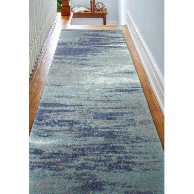 Heilman Blue Area Rug Rug Size: Runner 26 x 8