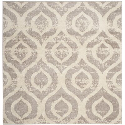 Amelius Beige/Gray Area Rug Rug Size: Square 67