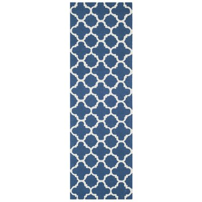Martins Hand-Tufted Wool Blue Area Rug Rug Size: Runner 26 x 8