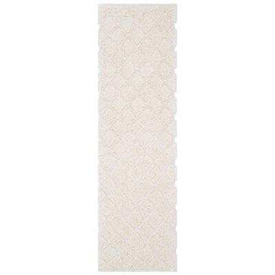 Felten Cream Area Rug Rug Size: Runner 23 x 8