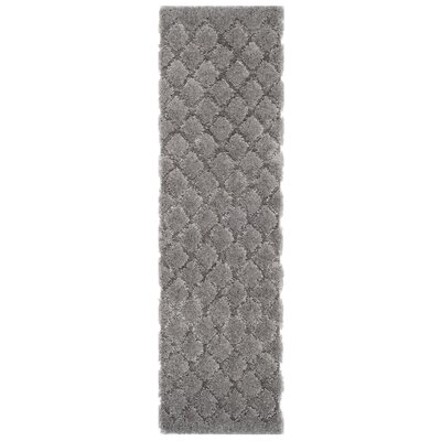 Felten Light Gray Area Rug Rug Size: Runner 23 x 8