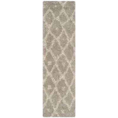 Amicus Gray/Beige Area Rug Rug Size: Runner 23 x 8