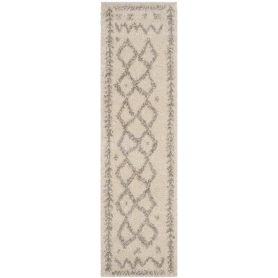 Amicus Beige/Gray Area Rug Rug Size: Runner 23 x 8