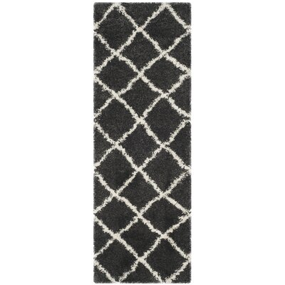 Cherry Street Charcoal / Ivory Area Rug Rug Size: Rectangle 23 X 11