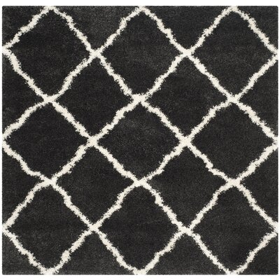 Cherry Street Charcoal / Ivory Area Rug Rug Size: Square 6'7
