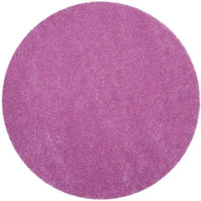 Vandoren Pink Area Rug Rug Size: Round 67 x 67