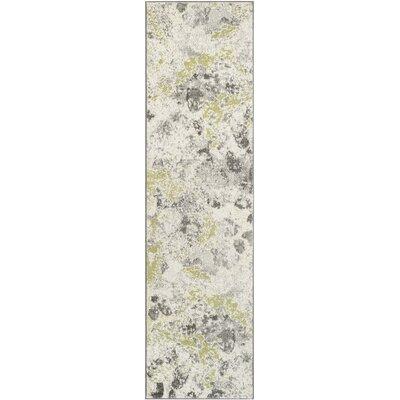 Seybert Beige/Gray Area Rug Rug Size: Runner 22 x 8