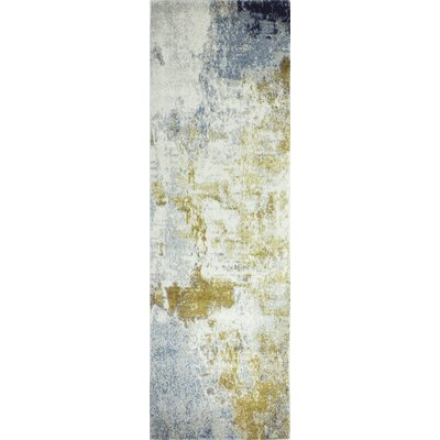 Heilman Blue/Yellow/Ivory Area Rug Rug Size: Runner 26 x 8