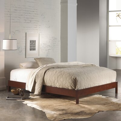 Jerrica Platform Bed Size: King, Finish: Mahogany