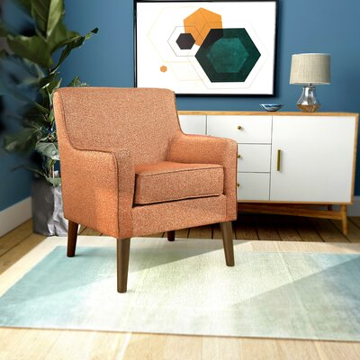Cicero Street Armchair Upholstery: Autumn Orange