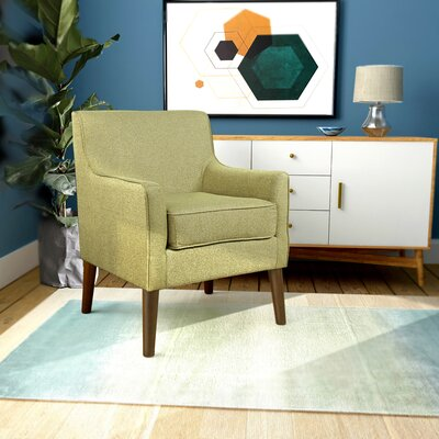 Cicero Street Armchair Upholstery: Citron Green