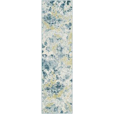 Seyler Beige/Blue Area Rug Rug Size: Runner 22 x 6